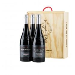 Caja madera Ramón Bilbao edición Limitada 2014, 3 botellas